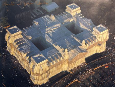 Lithograph Christo - WRAPPED REICHSTAG