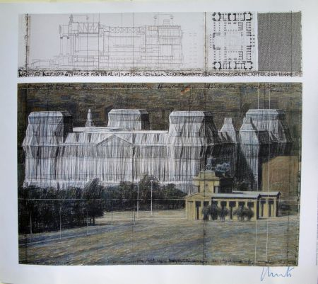 Screenprint Christo - Wrapped Reichstag VI
