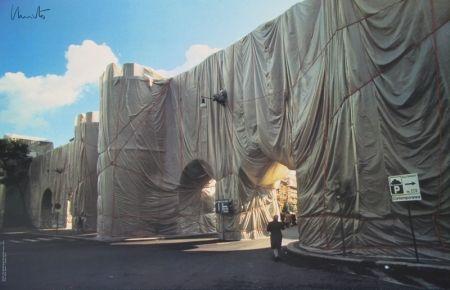 Offset Christo - Wrapped Roman Wall, Porta Pinciana, Rome