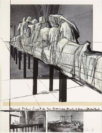 Screenprint Christo & Jeanne-Claude - WRAPPED STATUES