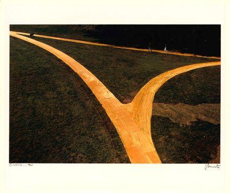 Lithograph Christo - Wrapped Walk Ways