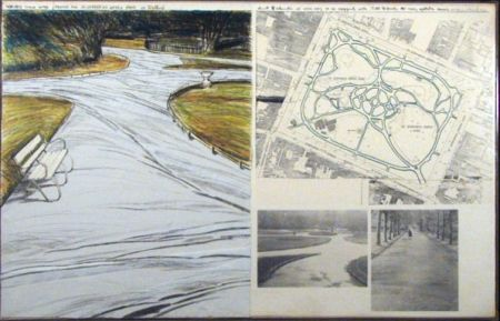 Lithograph Christo - WRAPPED WALKWAYS/PROJECT FOR ST. STEPHEN'S GREEN PARK IN DUBLIN
