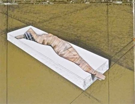 Lithograph Christo - Wrapped Woman