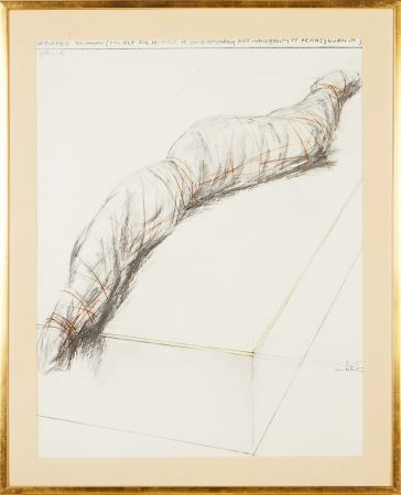 Screenprint Christo - Wrapped woman - Project for the Institute of Contemporary Art, Philadelphia
