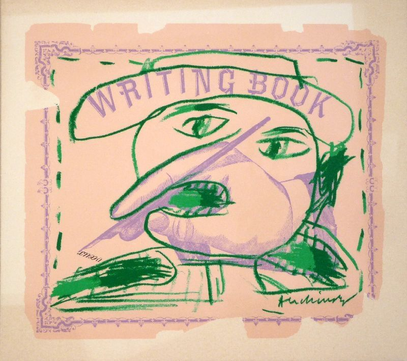 Lithograph Alechinsky - Writing Book