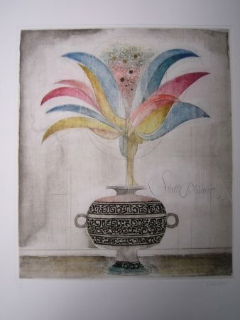 Etching And Aquatint Finsterer - Wunderblume