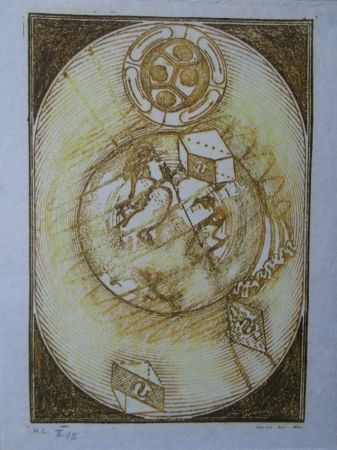 Lithograph Ernst - Wunderhorn, I