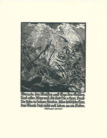 Woodcut Kätelhön - Wurzeln des Waldes...