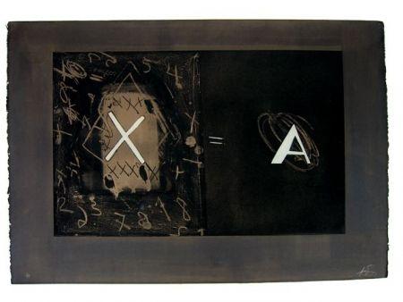 Engraving Tàpies - X-A