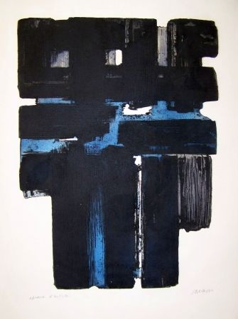Engraving Soulages - X a