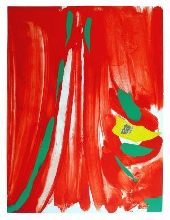 Lithograph Debré - Xian rouge - Deuxième planche