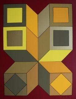 Screenprint Vasarely - XICO 6