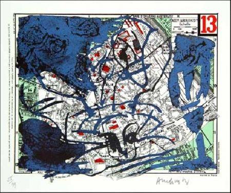 Lithograph Alechinsky - XIIIe Arrondissement