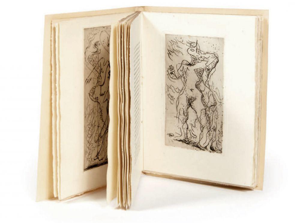 Illustrated Book Masson - XIMENÈS MALINJOUDE. 6 eaux-fortes d' André Masson (1927).