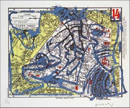 Lithograph Alechinsky - XIVe Arrondissement