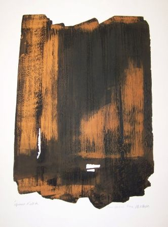 Engraving Soulages - XVI