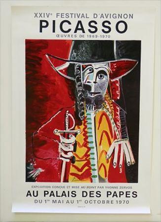 Lithograph Picasso - XXIV Festival D'Avignon