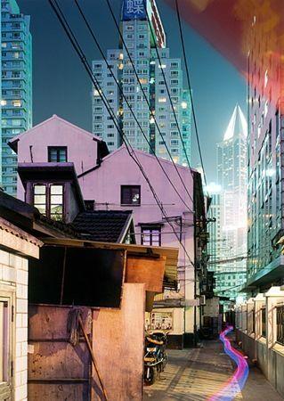 Screenprint Zielske - Yan 'an Donglu, Shanghai