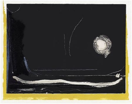 Lithograph Frankenthaler - Yellow Jack