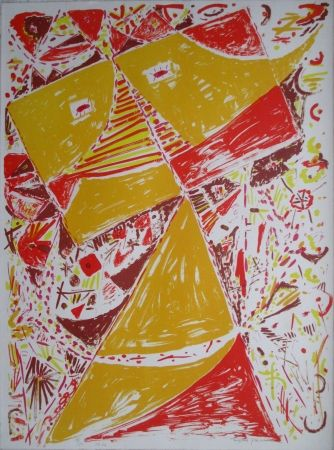 Lithograph Jacobsen - Yellow Mask