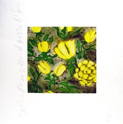 Screenprint Sultan - Yellow Roses