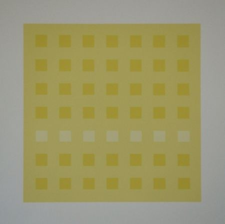 Screenprint Calderara - Yellow Squares