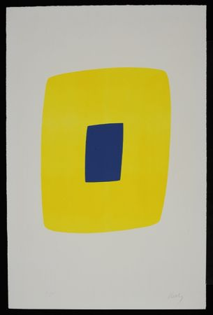 Lithograph Kelly - Yellow with Dark Blue VI.12