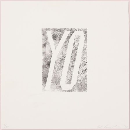 Lithograph Ruscha - Yo