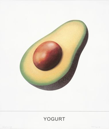 Screenprint Baldessari - Yogurt