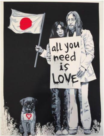 Screenprint Mr Brainwash - Yoko Ono and John Lennon