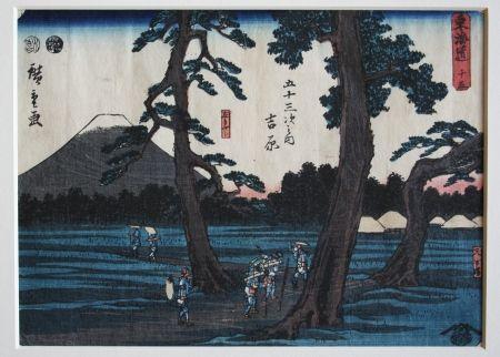 Woodcut Hiroshige - Yoshiwara