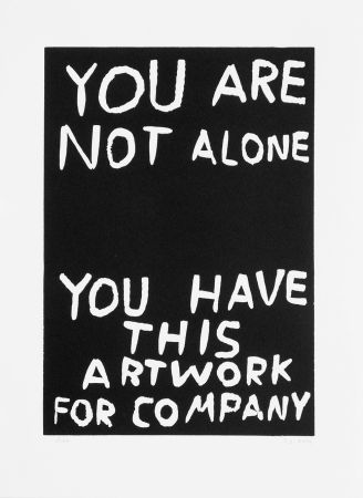 Linocut Shrigley - You are not alone