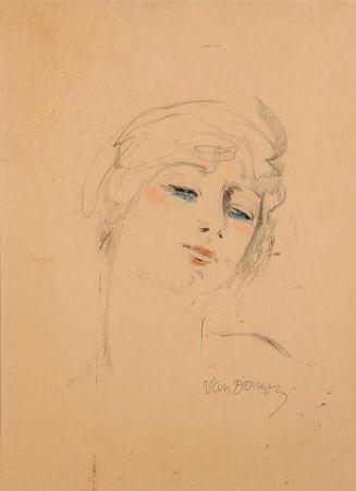 Lithograph Van Dongen - Young Girl Wih Blond Hair