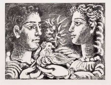 Lithograph Picasso - Youth