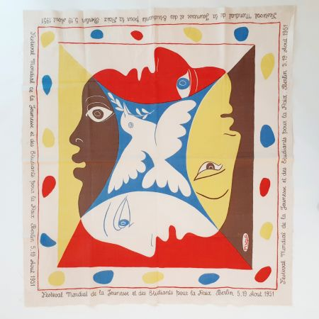Screenprint Picasso - YOUTH FESTIVAL SCARF 1951