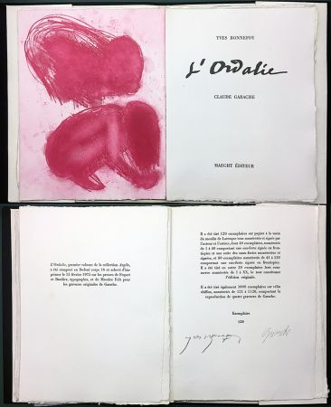 Illustrated Book Garache - Yves Bonnefoy. L'ORDALIE. Maeght 1975