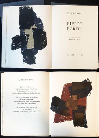 Illustrated Book Ubac - Yves BONNEFOY . PIERRE ÉCRITE. Ardoises taillées par Raoul Ubac