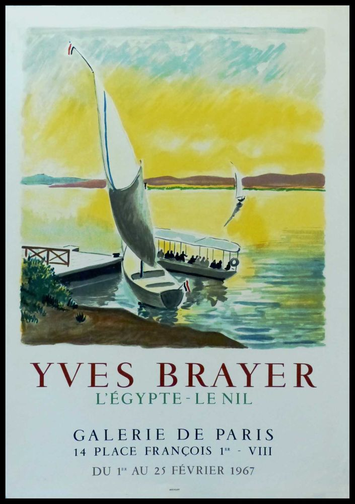 Poster Brayer - YVES BRAYER - GALERIE DE PARIS, L'EGYPTE - LE NIL