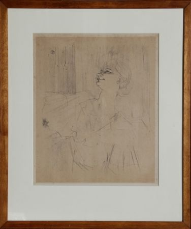 Lithograph Toulouse-Lautrec - Yvette Guilbert - Menilmontant