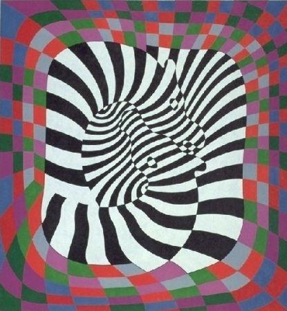 Lithograph Vasarely - Zèbres