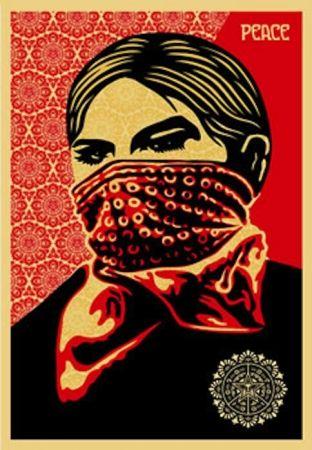 Screenprint Fairey - Zapatista Woman. Large Format