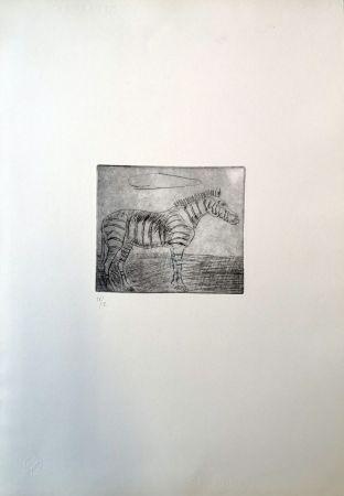 Drypoint Ligabue - Zebra