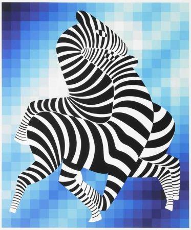 Screenprint Vasarely - Zebras