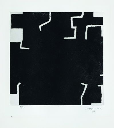 Engraving Chillida - Zeratu I