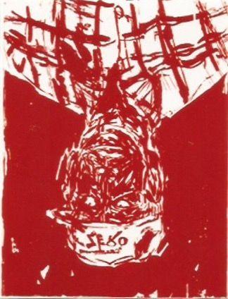 Woodcut Baselitz - Zero for the painter