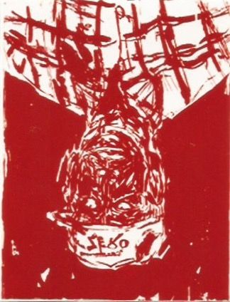 Woodcut Baselitz - Zero for the painter
