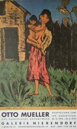 Poster Mueller - Zigeunerin mit Kind