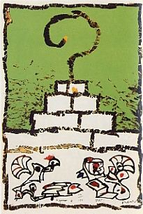 Lithograph Alechinsky - Ziggourat I