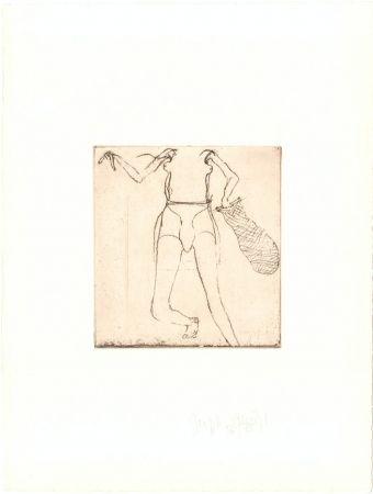 Etching Beuys - Zirkulationszeit: Taucherin