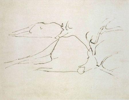 Etching And Aquatint Beuys - Zirkulationszeit: Tote Hirsche